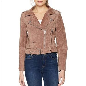 Blank NYC Suede Leather Moto Jacket Small NWOT
